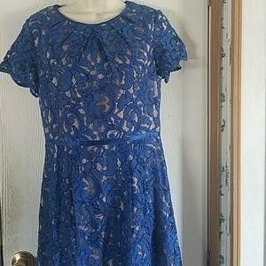 Adrianna Papell Boatneck Lace Sheath Dress, Size 8